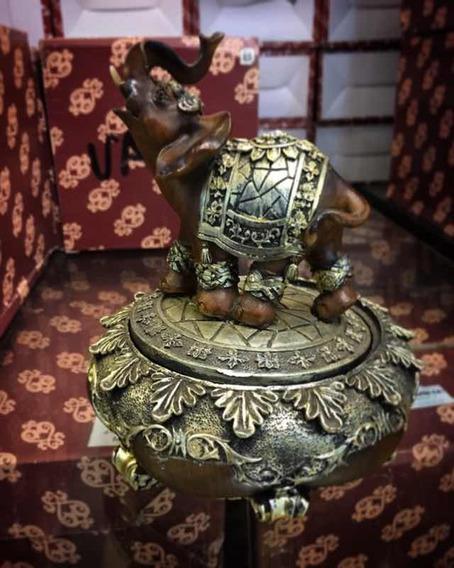 Porta Treco Elefante, Porta Joia, Decoração Rústica 16cm