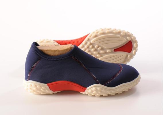 Zapatillas Elastizadas Doblele Alfa Mujer Marino Mantec Rojo
