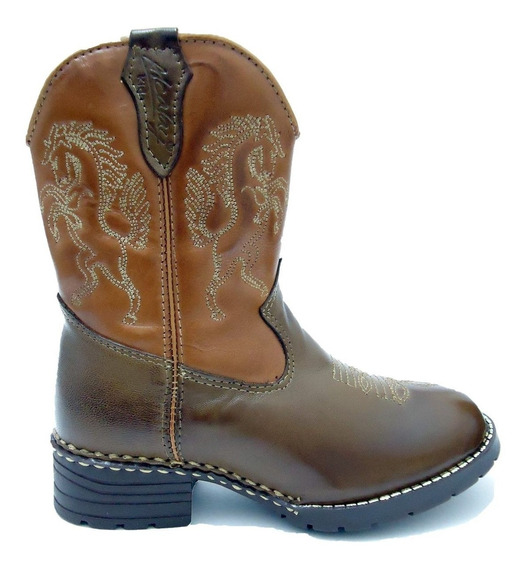 Bota Country Masculina Infantil Kids Texana Rodeio Peao Cour