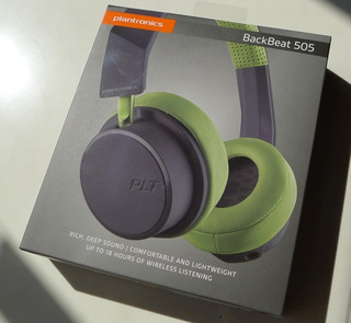 Headset Backbeat 505 Grey/green Headphones With Microphone