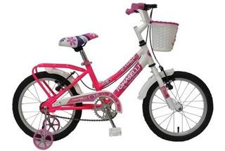 Bicicleta Infantil Niñas Rod 14 (lady14) Canasto Accesorios