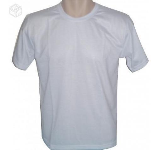 Lote 30 Camisetas Lisa 100% Poliester Camisa Para Sublimação
