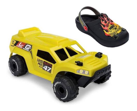 Sandália Infantil Grendene Kids Hot Wheels Monster Truck 221