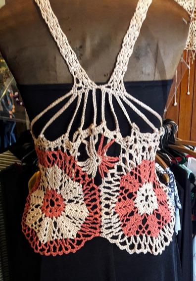 Musculosas Crochet Tejidas A Mano