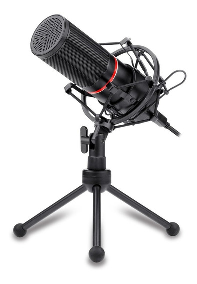 Microfone Gamer Streamer Redragon Blazar Com Tripé Usb Gm300