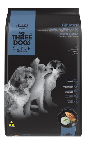 Imagen 1 de 2 de Three Dogs Super Premium Cachorro Mini 3kg Con Regalo