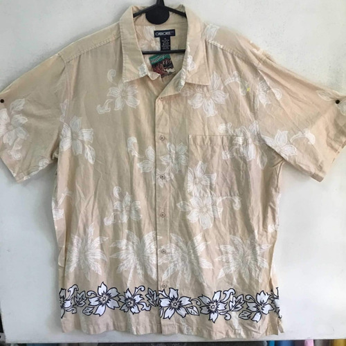 Camisa Hawaiana Floreada Playera Tropical Vintage   494
