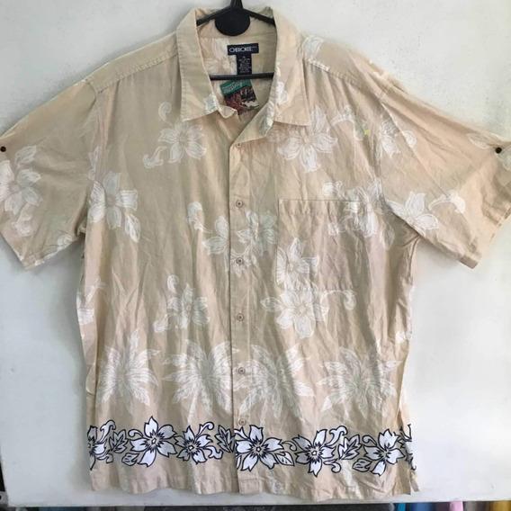 Camisa Hawaiana Floreada Playera Tropical Vintage 494