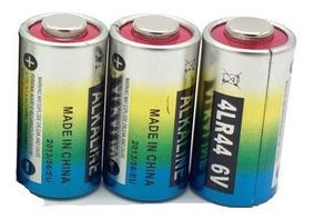 3 Pilha Bateria Alcalina Coleira 6v 4lr44 476a A544x