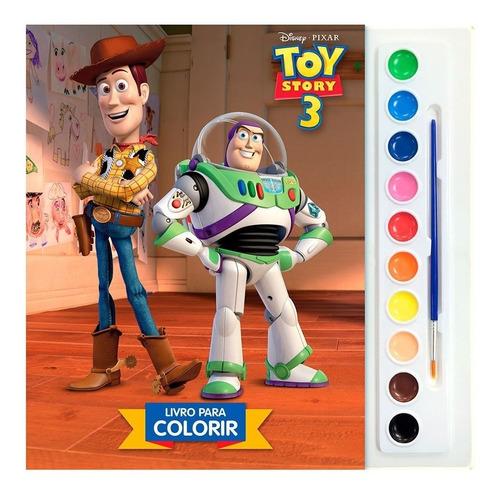 Livro Toy Story 3 Aquarela