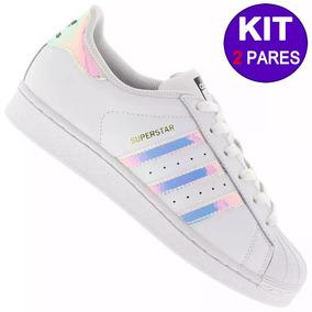 Kit 2 Tênis adidas Superstar Foundation Original Liquidação