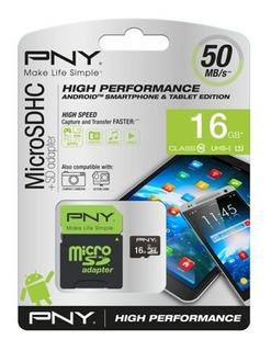 Memoria Micro Sd Clase 10 Pny 16 Gb Psp Celulares Camaras