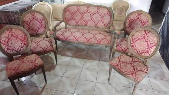 Conjunto Sofa Poltrona Cadeira Luiz Xv R$1850 À Vista