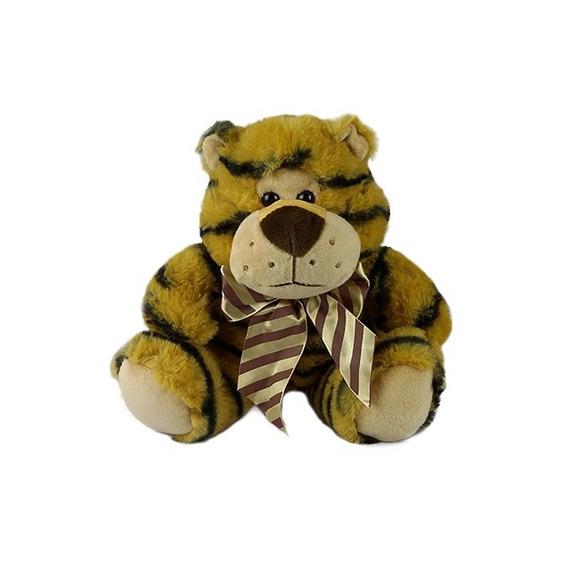 Tigre De Pelúcia Sentado 23cm Safari