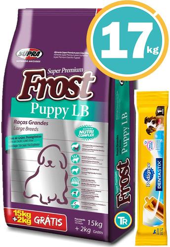 Comida Frost Perro Cachorro Grande 17 Kg C/regalos Y Envío