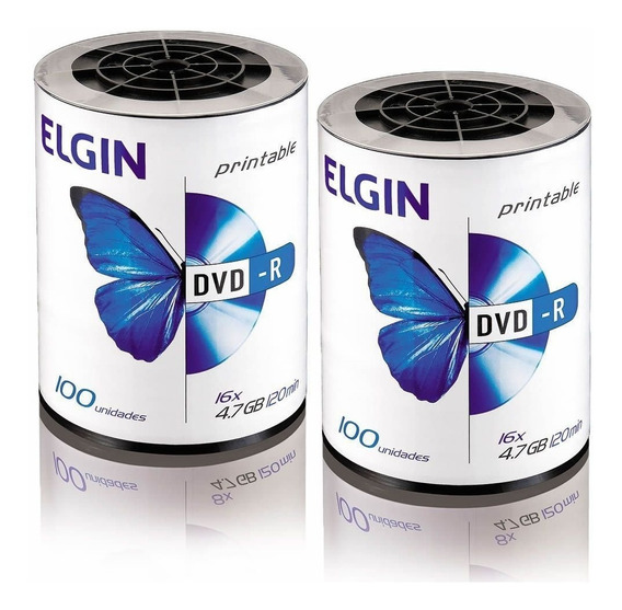 Dvd Virgem Printable Dvd-r 4.7gb/120min 16x Elgin 200un