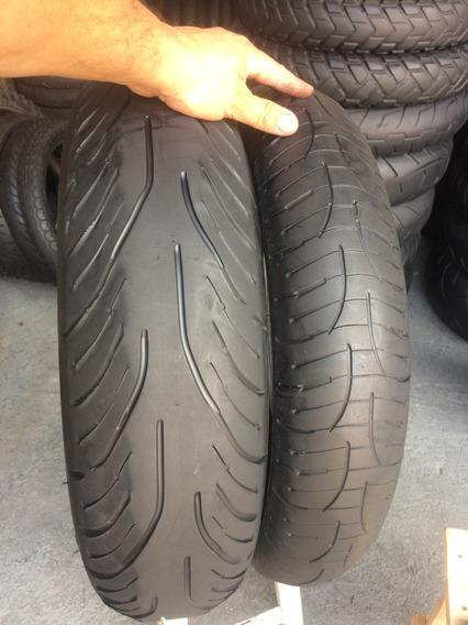 Pneus 120/70/17 E 170/60/17 Michelin Pilot Road 4 Usados Xj6