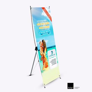 X Banner Display Publicitario Reforzado De 80 X 180 Cm