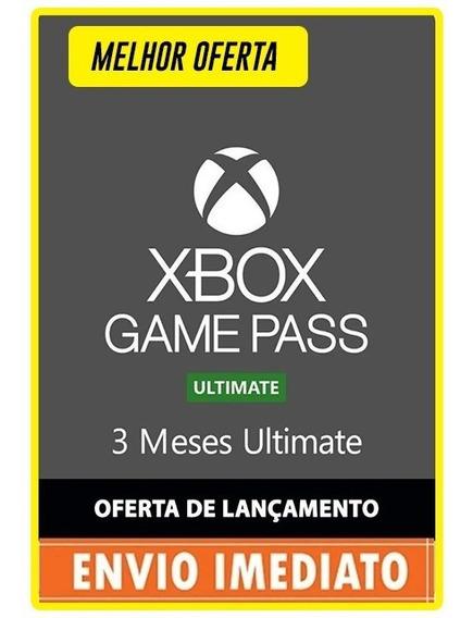 Xbox Game Pass Ultimate 3 Mese 84 Dias Códigos De 25 Digitos
