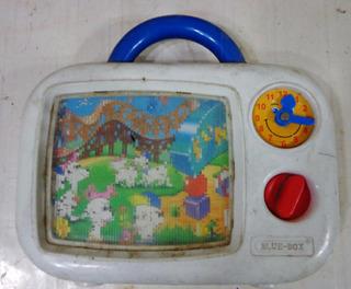 Antiguo Juguete Blue Box Para Reparar O Repuestos