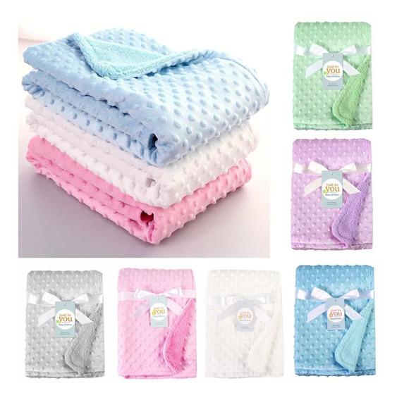 Cobertor Bebe Lã Macia Termica Manta Recém Nascidos Termica Alta Qualidade Varias Cores