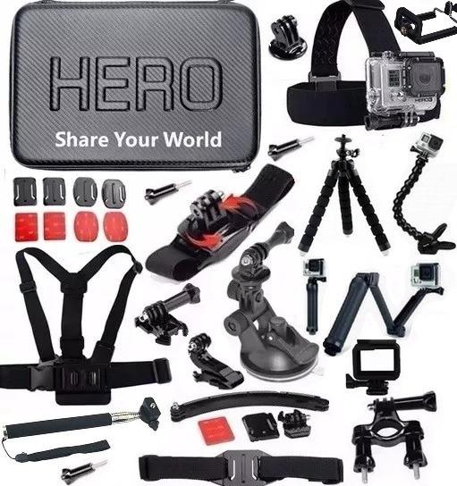Kit Para Gopro Hero 5 6 Hero 7 Black Action Cam Sport Xiaomi