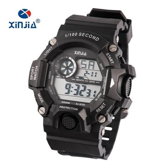 Relógio Esportivo Masculino Digital Preto Xj-875d Barato