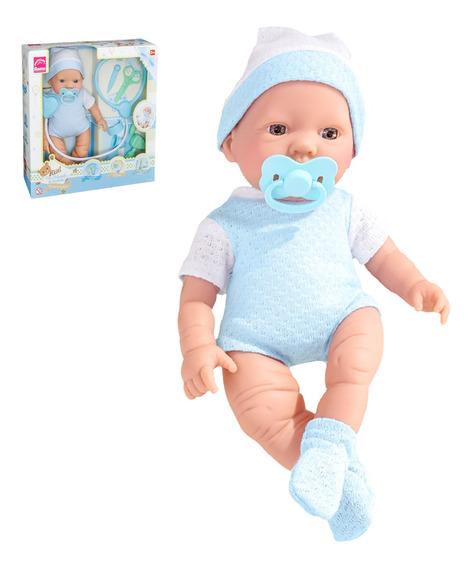 Boneca Bebezinho Real Cuidados Menino Roma + Acessórios