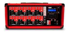 Amplificador Novik Nvk 8500 Bt Bluetooth Vermelho Com Nota
