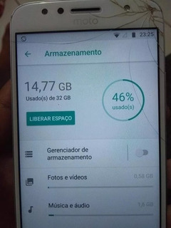 Moto G 5 S Plus 32 Gb A Tela Esta Trincada Mais Mexe Normal