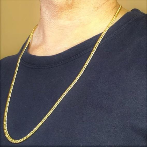 Corrente Masculina Elos Grumet Banhada Em Ouro 18k 4719