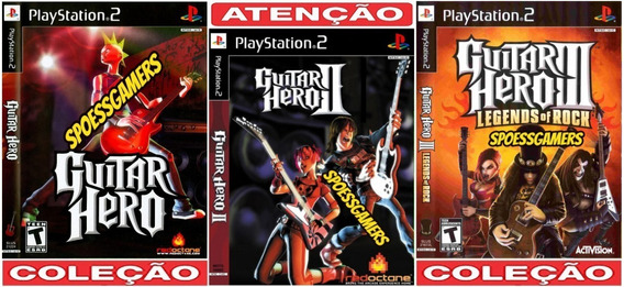 Guitar Hero 1, 2, 3 Coleção (3 Dvds) Ps2 Patch