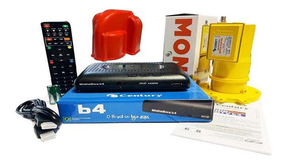 Receptor Digital Midiabox B4 Century Lnbf Monoponto Capa