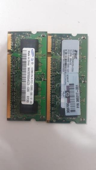 Memória Notebook Ddr2 512mb Kit Com 10