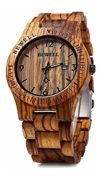 Bewell Bewell W086b Hombres Reloj De Madera