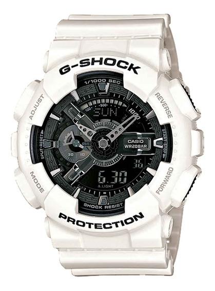 Relógio Casio Masculino Ga-110gw-7adr Branco - Refinado