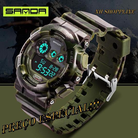 Relógio Masculino Luxo Quartzo Analógico Digital
