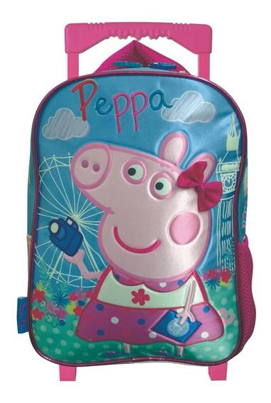 Mochila Con Carro Jardin 12 Pulgadas Peppa Pig Mundo Manias