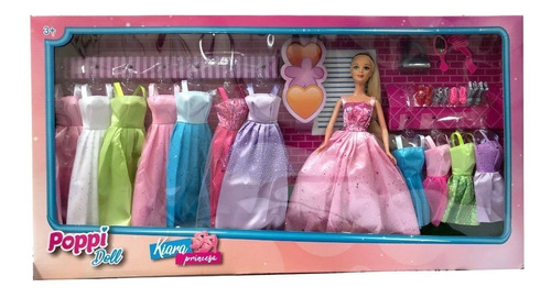 Kiara 5979 Princesa Con Guardarropas Poppi Doll Creciendo