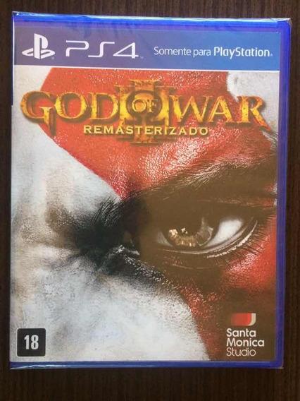 Jogo God Of War 3 Remasterizado Playstation 4 Mídia Física