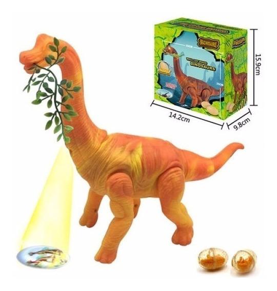 Dinossauro Anda Bota Ovo Som Luz E Movimento Projetor