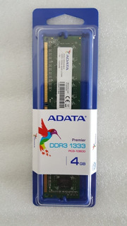 Memoria Ram Ddr3 1333 Mhz De 4gb Ad3u1333w4g9-s