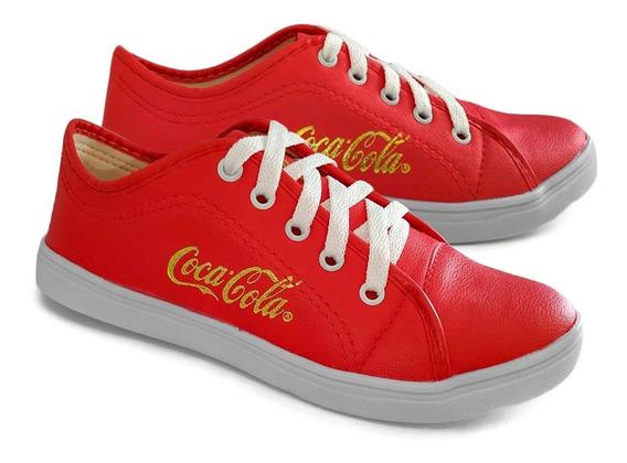 Tênis Feminino Casual Sapatenis Coca-cola Envio Imediato Oferta