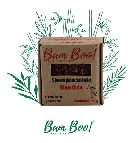 Imagen 1 de 2 de Shampoo Solido Vino Tinto 80 Gr Bam Boo! Lifestyle®