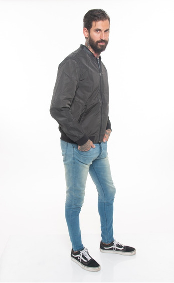 Campera Rompeviento Importada Impermeable Liso Gris #50016