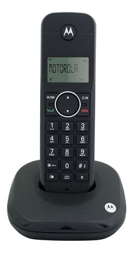 Imagen 1 de 2 de Teléfono inalámbrico Motorola MOTO500ID negro