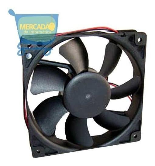 3 Un Fan Cooler Para Gabinete 8 Cm 80x80x25mm C/ Parafusos