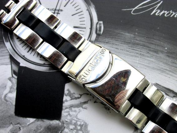 Pulseira Original Swatch Inoxidável Mid-rubber