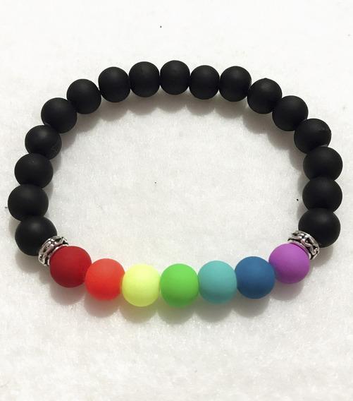 Pulsera De Los Chakras En Color Negro Para Equilibrarlos