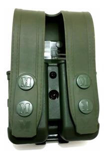 Porta Carregador Duplo Universal Verde Em Polímero Maynards